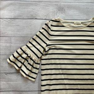 Max studio ruffle sleeve shirt